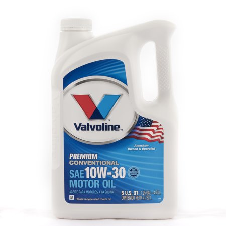 Valvoline premium conventional 10w 30 motor oil 5 quarts for What s the difference between 5w30 and 10w30 motor oil