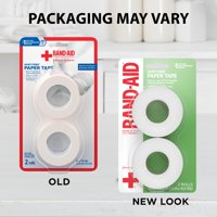 Band-Aid Brand First Aid Medical Paper Tape, 1 in by 10 yd, 2 ct