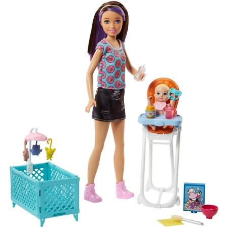 Barbie Skipper Babysitters Inc. Doll & Baby Feeding Doll Playset