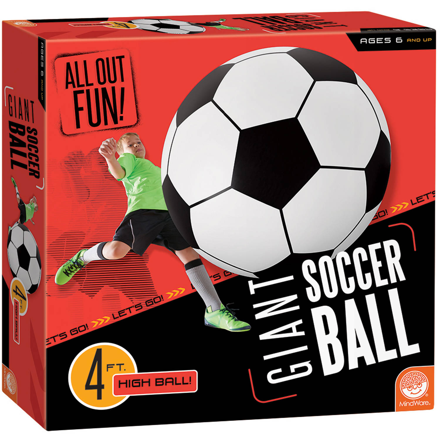 All Out Fun! Giant Inflatable Soccer Ball by MindWare