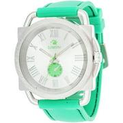 Fashion Watch, Green Rubber Strap