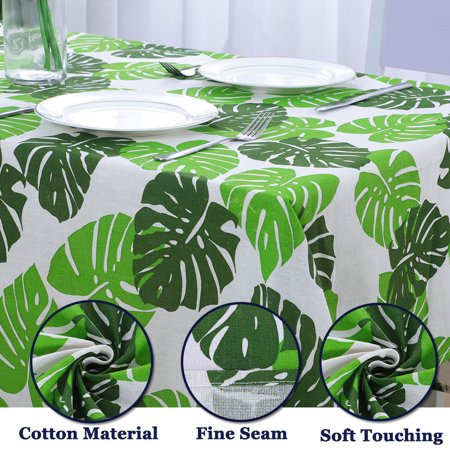 """Tablecloth Cotton Oil Stain Resistant Wedding Camping Table Cloths 55"""" x 55"""", #5 - image 5 de 7"""