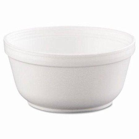 Dart 12B32 Insulated Foam Bowls, 12oz, White, 50/pack, 20 - Bowl Countertop