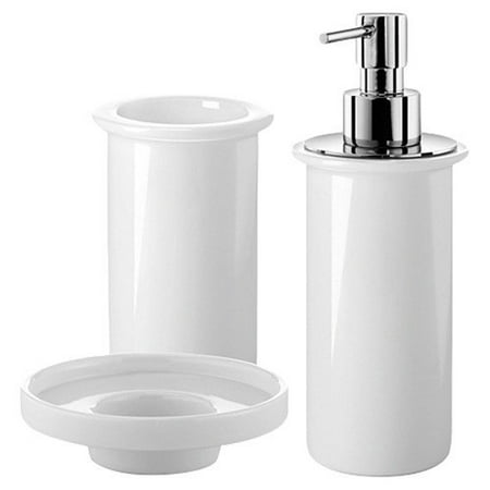 Ws bath collections saon bathroom accessories set for Bathroom accessories at walmart