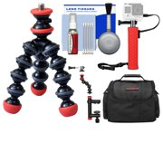 Joby GorillaPod Magnetic Mini Flexible Tripod with Case + Hand Grip + Action Camera Clamp + Kit