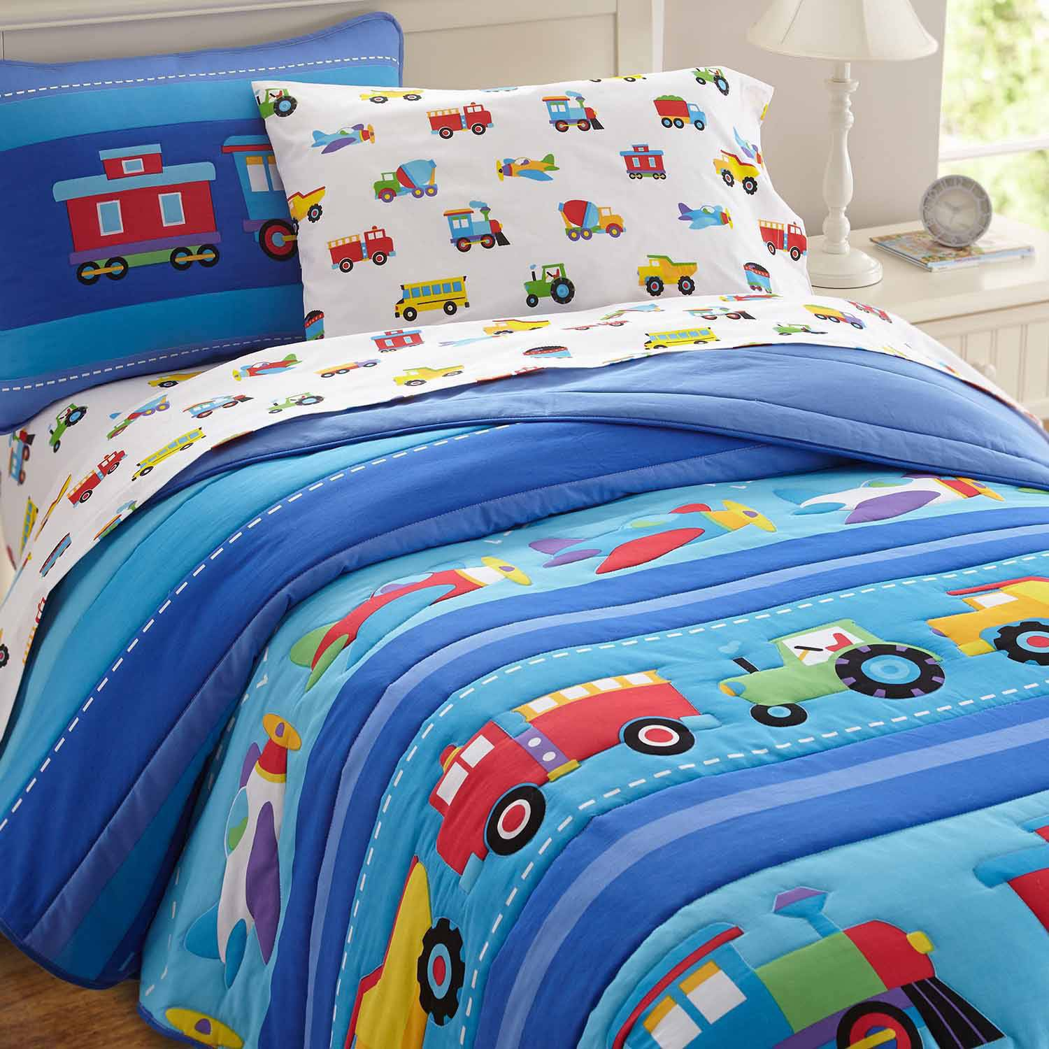 Olive Kids Trains Planes And Trucks Bedding Comforter Set