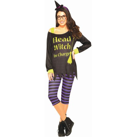 Halloween Head Witch In Charge Adult Costume
