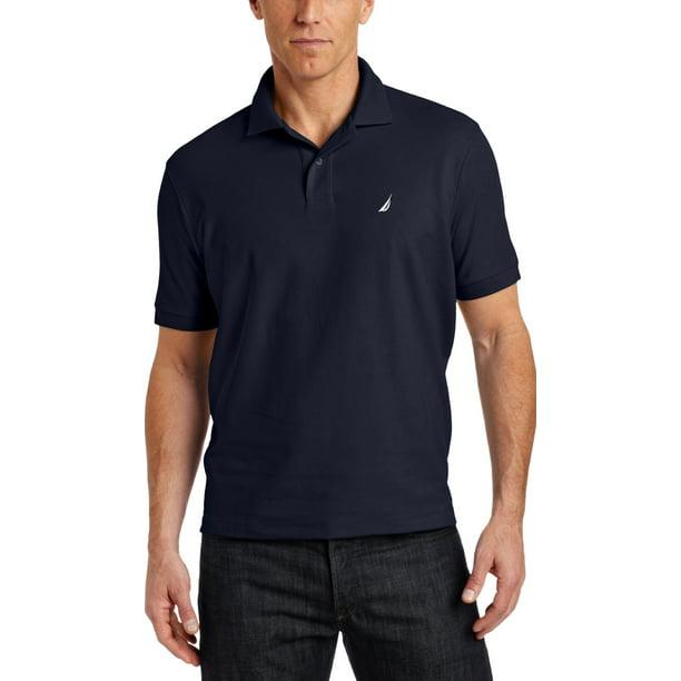 nautica men's big & tall solid deck polo shirt, navy, 2xlt