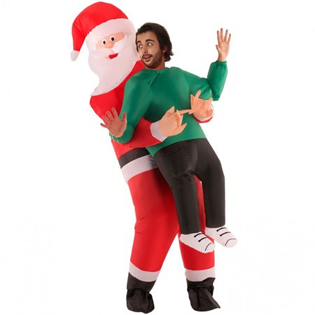 Rent Costumes Near Me (Santa Inflatable Pick Me Up Adult Costume, Red White Black,)