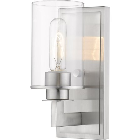 Wall Sconces 1 Light Fixtures With Brushed Nickel Finish Steel Material Medium 5
