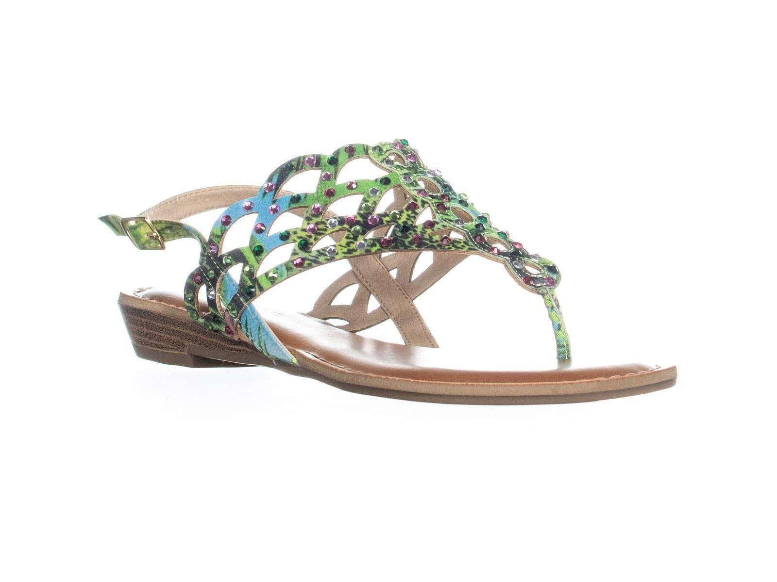 Size 8.5 Cinnamon Zigi Soho Womens Mariane Open Toe Casual Strappy Sandals