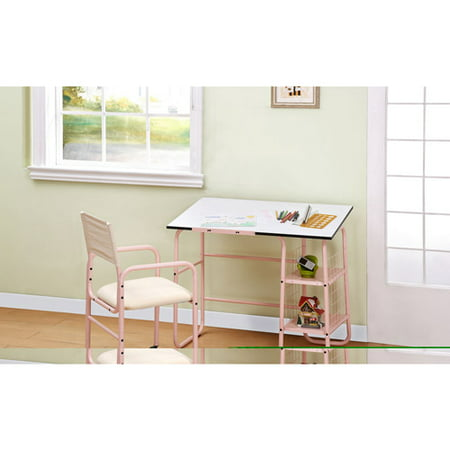 Powell Furniture Student Desk And Chair Pink White Walmart Com