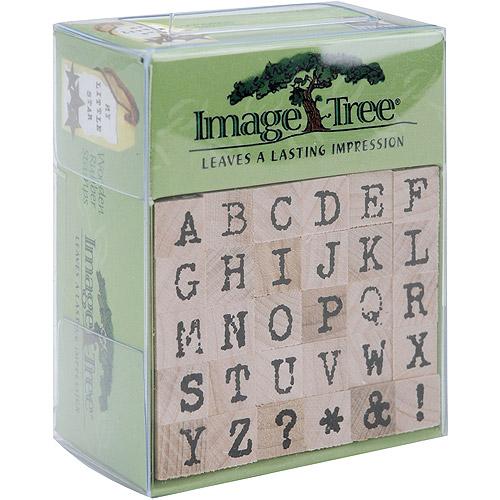 EK Success Image Tree Handle Rubber Stamp Set-Antique Typewriter Alphabet/Upper