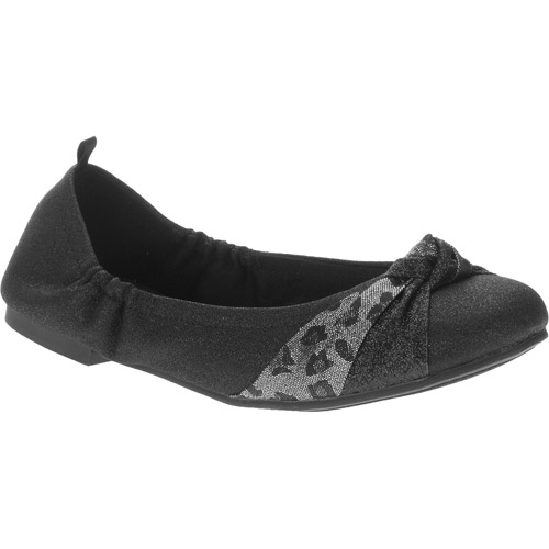 Faded Glory Girls' Knotted Ballet Flat by