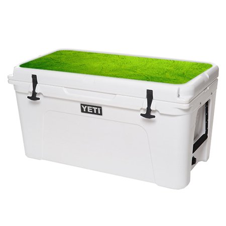 MightySkins Protective Vinyl Skin Decal for YETI Tundra 110 qt Cooler Lid wrap cover sticker skins Black Diamond Plate -  YETUN75LID-Green Cement