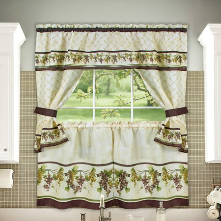 Tuscany Cottage Kitchen Curtain Tier Amp Swag Set 24 In