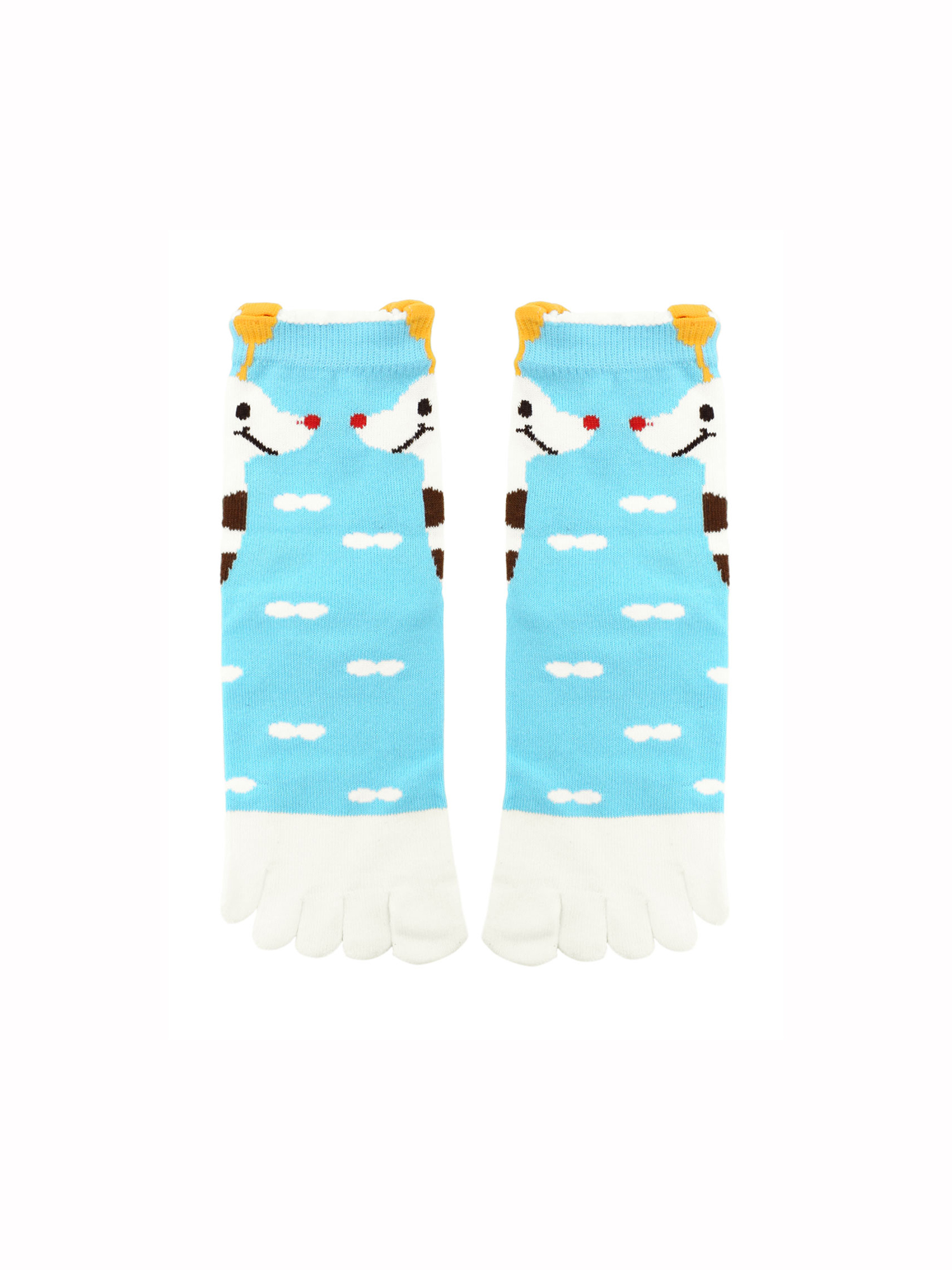 Women's Giraffe Novelty Pattern Elastic Cuffs Toe Socks 9-11
