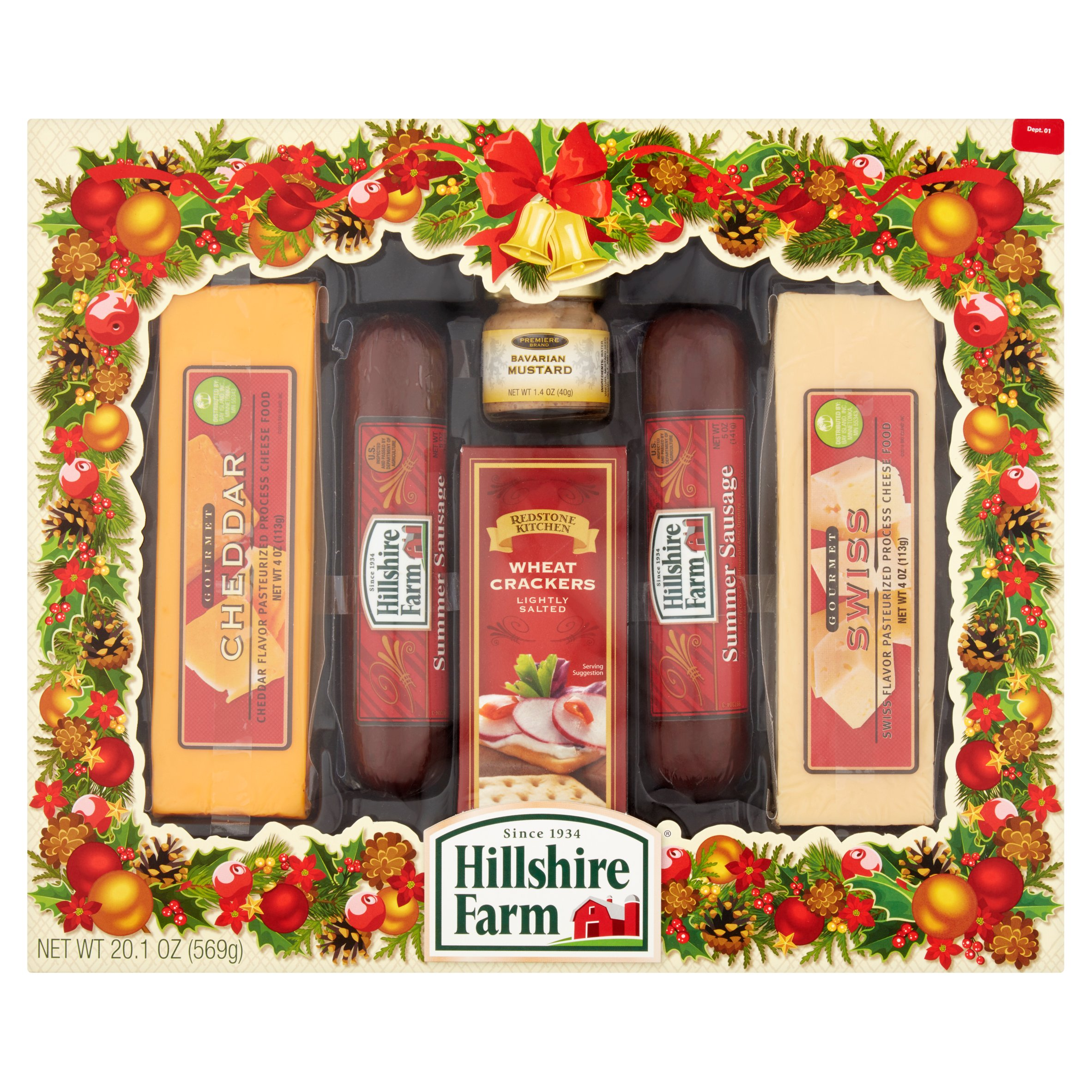 Hillshire Farm Holiday Sausage & Cheese Assortment, 6 count, 20.1 oz