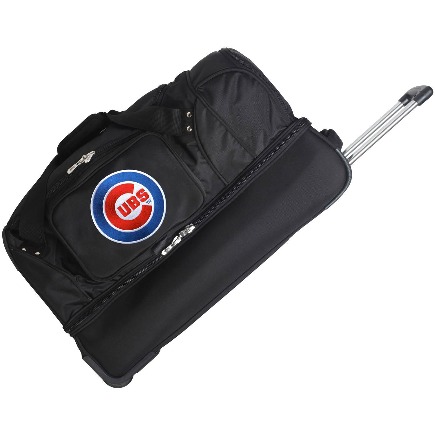 "Chicago Cubs 27"" 2-Wheel Rolling Drop Bottom Duffel Bag - Black - No Size"