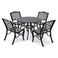 Aluminium Black 5pc Dining Set