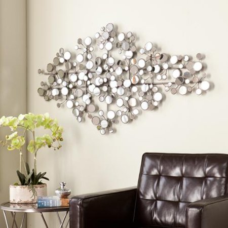 Upton Home Olivia Mirrored Metal Wall Sculpture