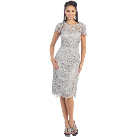 May Queen Short Sleeve Mother Of The Bride Lace Dress Walmart Com