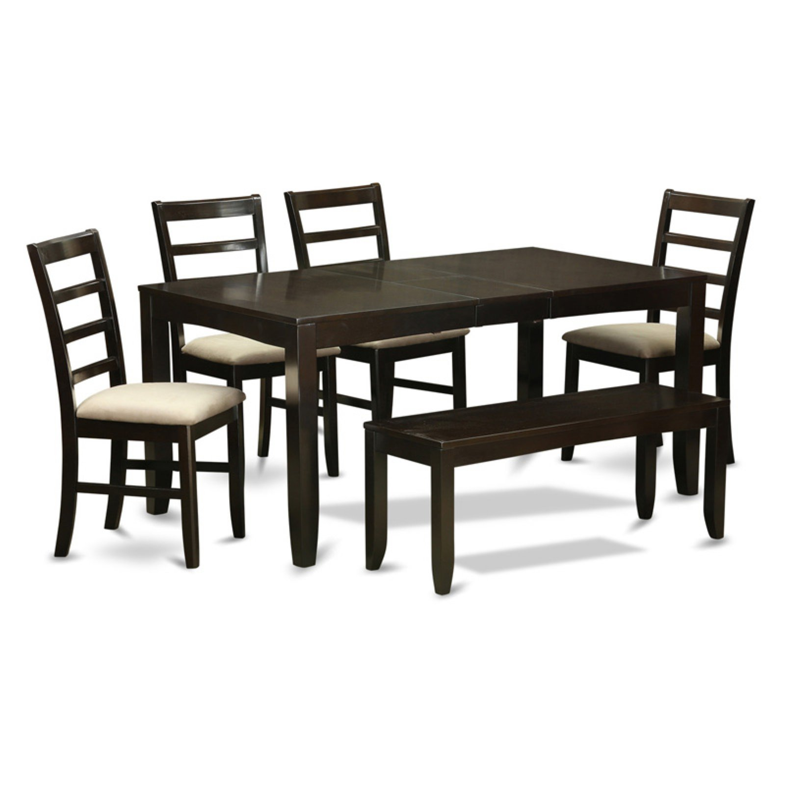 East West Furniture Lynfield 6 Piece Extension Dining Table Set with Parfait Chairs