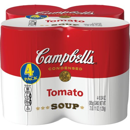 Campbell's Condensed Tomato Soup, 10.75 oz., 4 pack