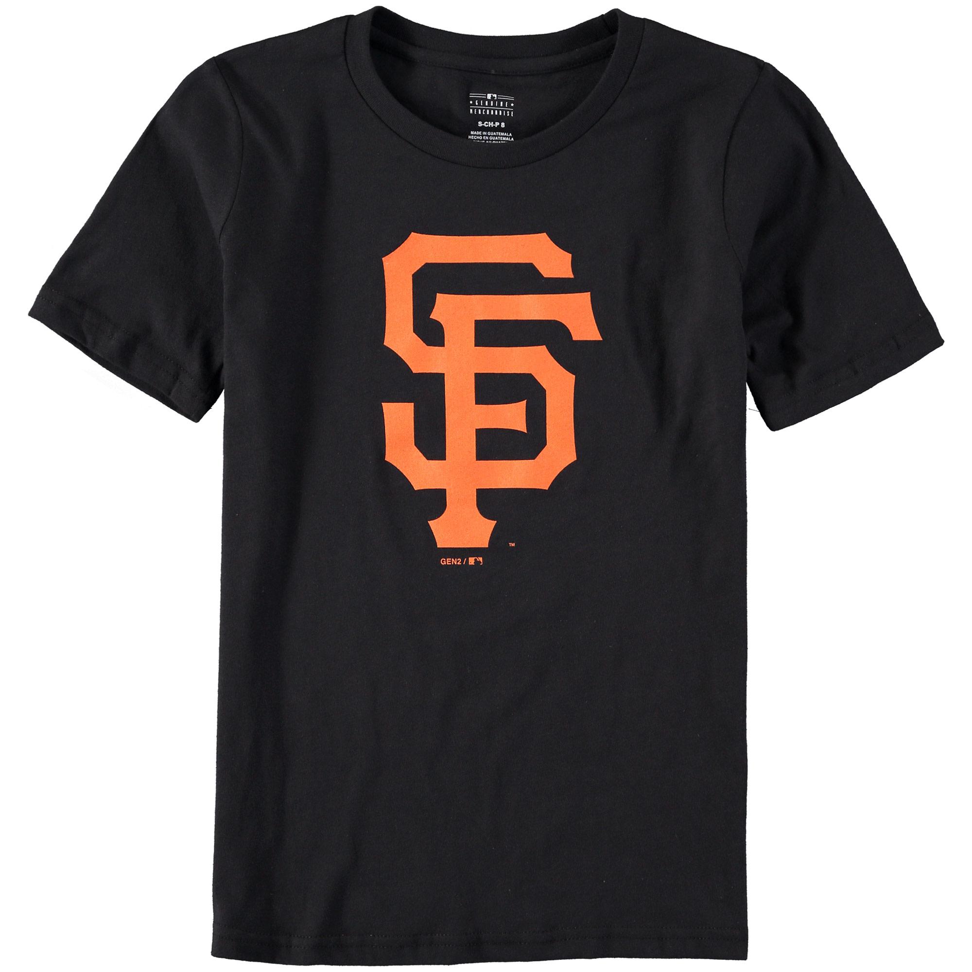 San Francisco Giants Youth Primary Logo T-Shirt - Black