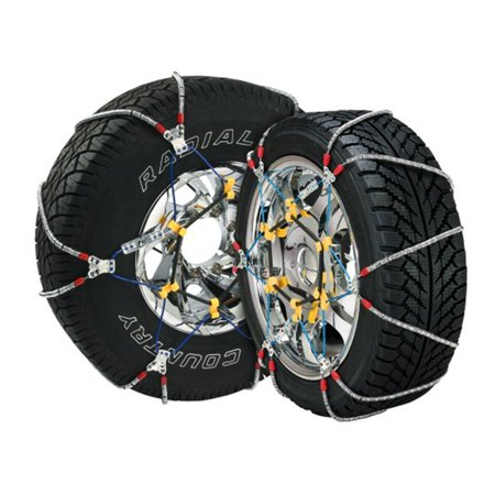 Super Z 6 Compact Cable Tire Snow Chain Set for Cars, Trucks, and SUVs |