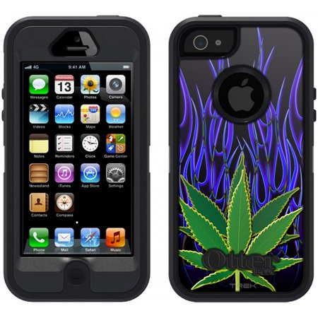 differently ddba6 a16a0 SKIN DECAL FOR OtterBox Defender Apple iPhone SE Case - Leaf on Black  DECAL, NOT A CASE