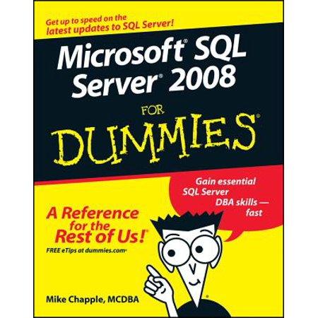 Microsoft SQL Server 2008 for Dummies (Attach Mdf File To Sql Server 2008)