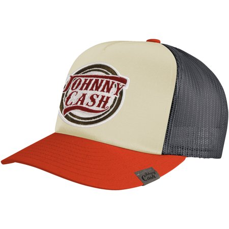 Johnny Cash - Johnny Cash Men s Cash Trucker Cap Multi - Walmart.com 971062b167d