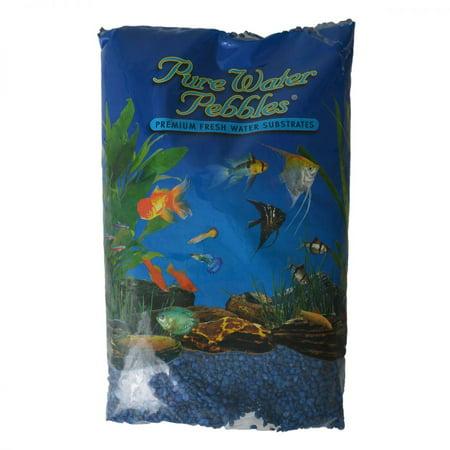 Pure Water Pebbles Aquarium Gravel - Marine Blue 25 lbs (3.1-6.3 mm Grain) - Pack of 3