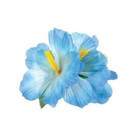 New Blue Adult Luau Hawaiian Flower Hibiscus Costume Accessory Hair (Hawaii Accessories)