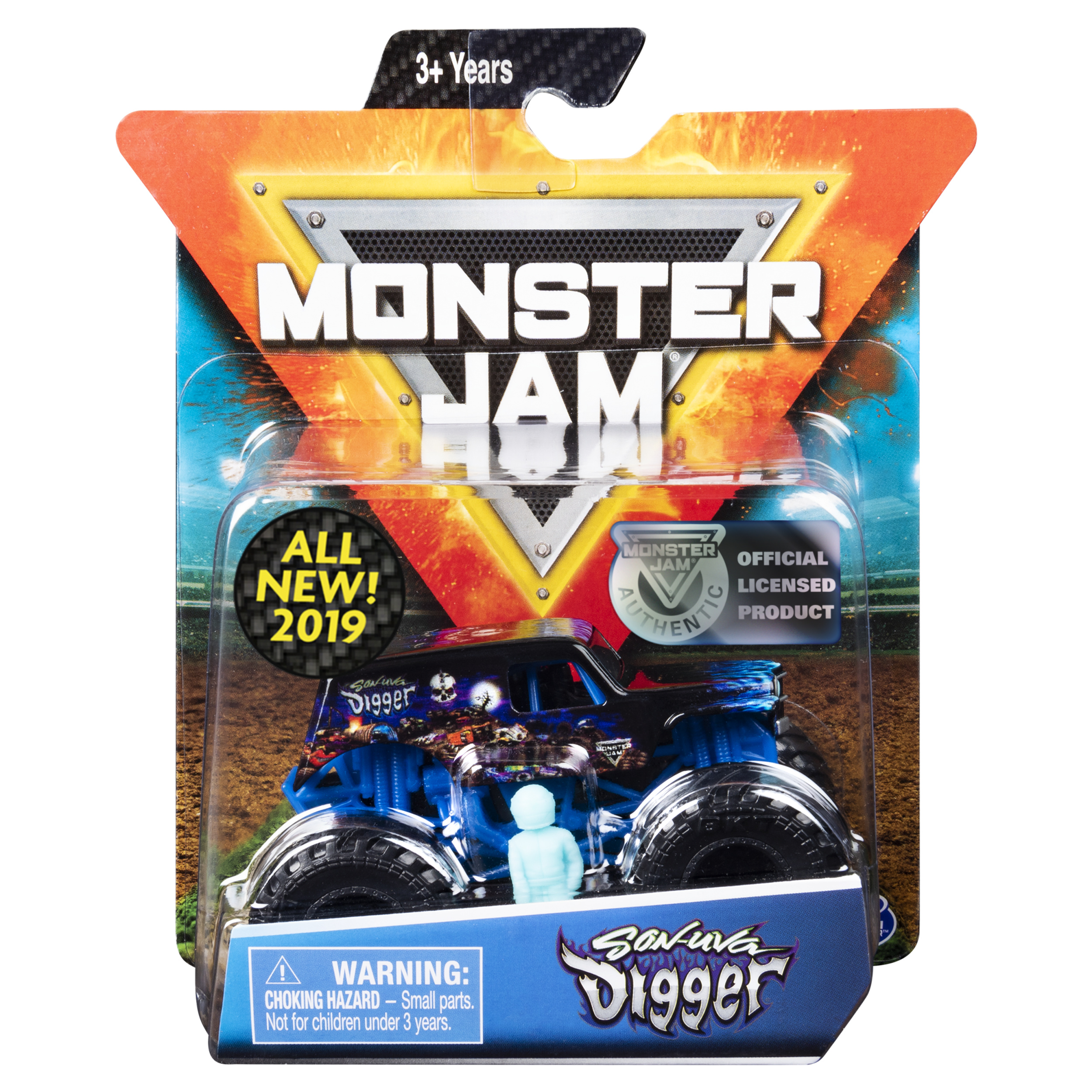 Monster Jam, Official Son-uva Digger Monter Truck, Die-Cast Vehicle, Legacy Trucks Series, 1:64 Scale