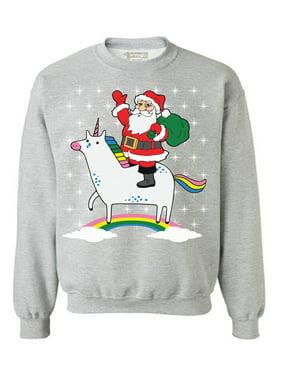 c9d6c937 Product Image Awkward Styles Unicorn Santa Sweatshirt Cute Unicorn Santa  Ugly Christmas Sweater for Women Xmas Unicorn Sweatshirt