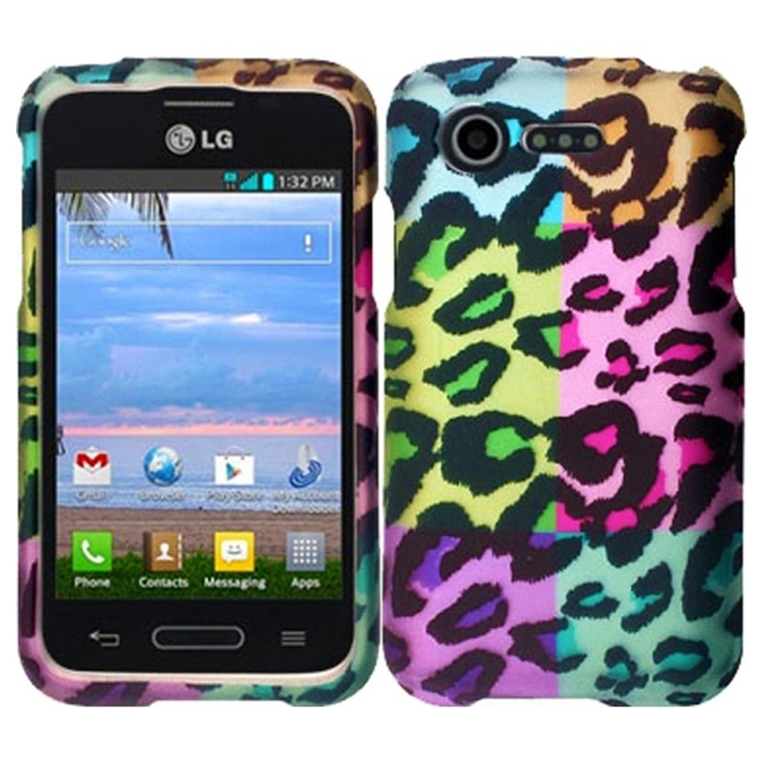 Insten Colorful Leopard Hard Back Skin Case for LG Optimus Zone 2 VS415PP L34C Fuel