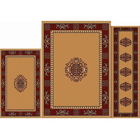 power loomed polypropylene rug set