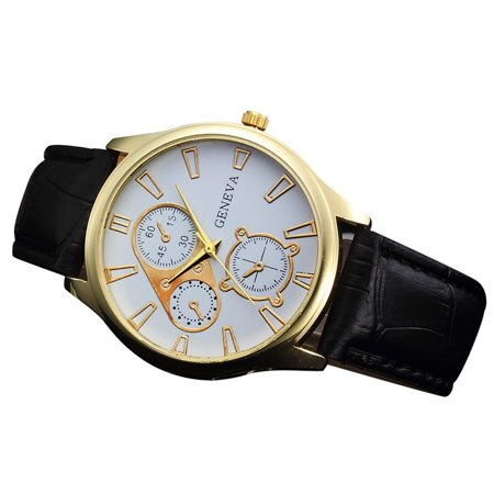 Outtop Retro Design Leather Band Analog Alloy Quartz Wrist (Analog Design)