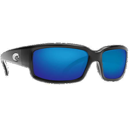 Costa Caballito Matte Black Frame Blue Mirrior 580G Lens Sunglasses - CL 11 (Costadelmar Sunglasses)