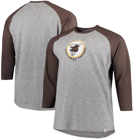 San Diego Padres Majestic Big & Tall Two to One Margin 3/4-Sleeve Raglan T-Shirt -