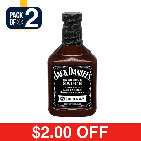 - (2 Pack) Jack Daniel's Old No. 7 Barbecue Sauce, 19 oz Bottle