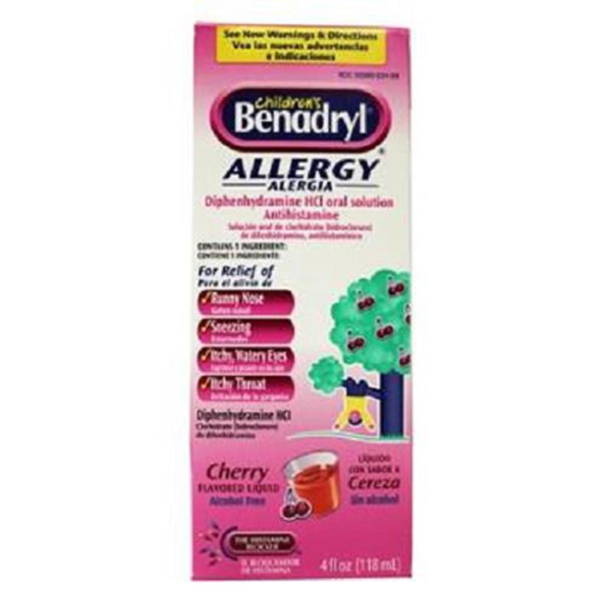 Children's Benadryl Allergy Cherry Flavored 4 oz