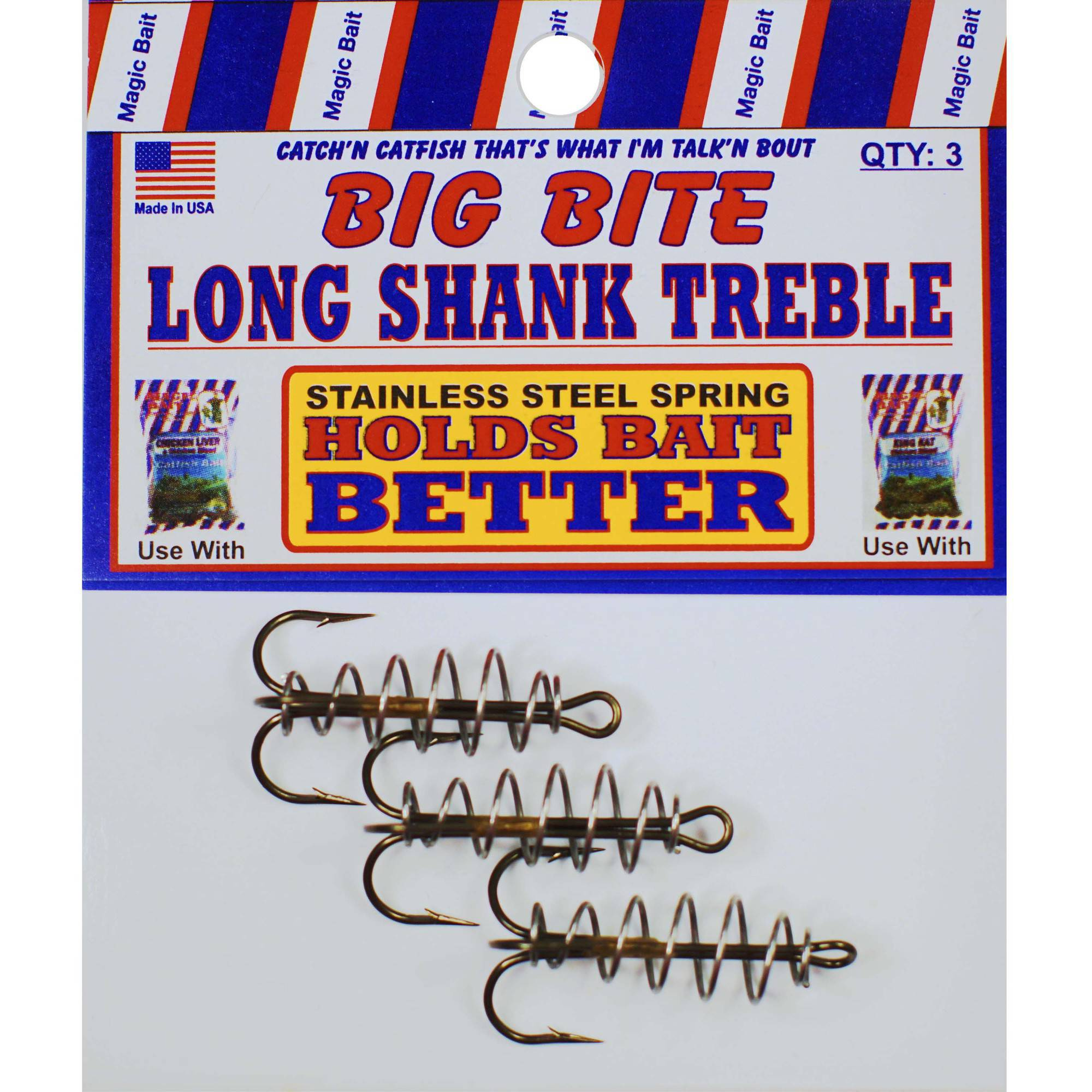 Magic Bait Big Bite Dough Bronze Treble 3 Pack Size 6 Hook
