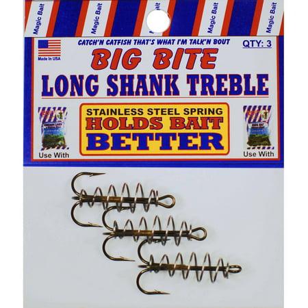 Bait Treble Hook - Magic Bait Long Shank Treble Spring Hook Catfish Dough Bait Hook