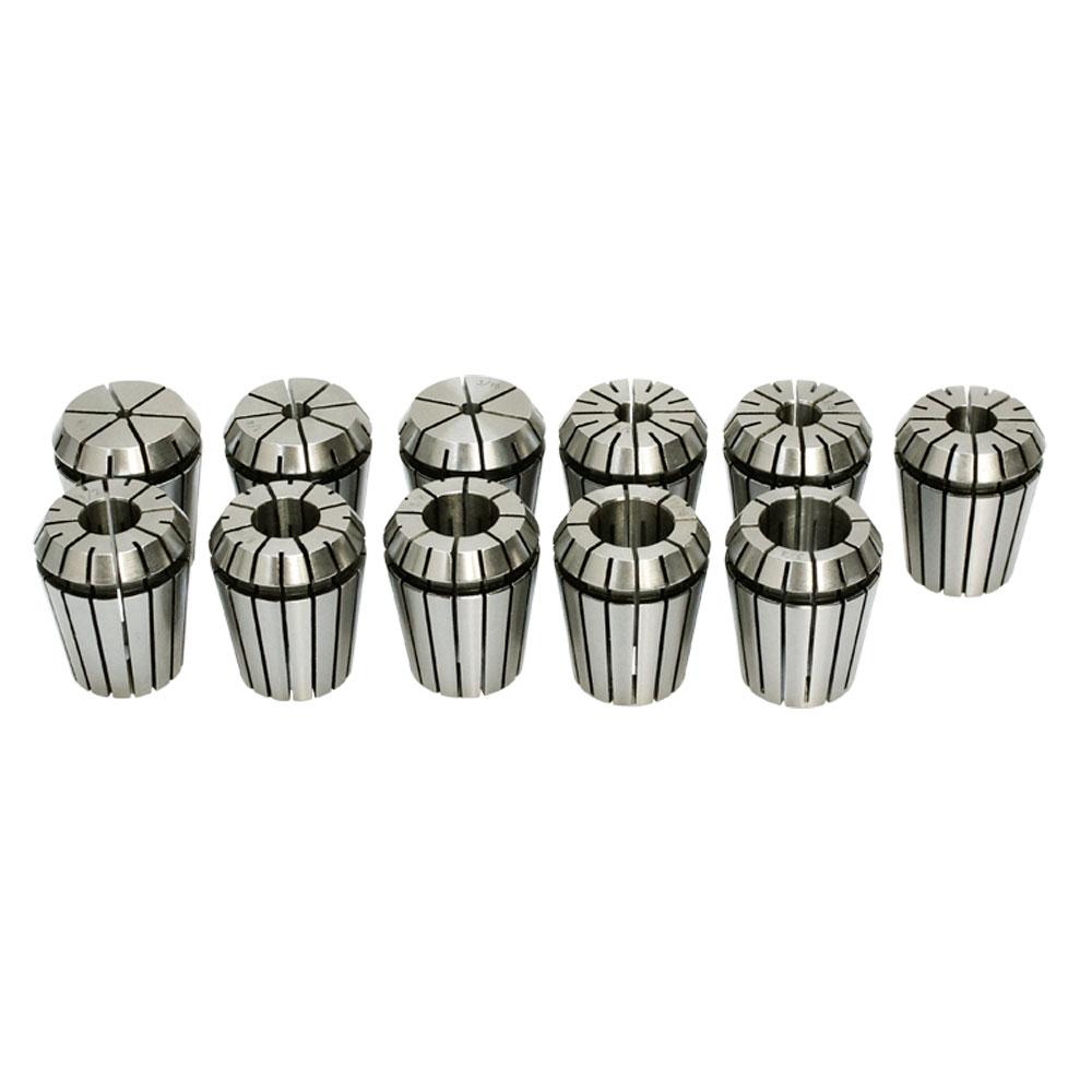 "10 PC ER-32 Collet Set 3/16-3/4"" Spring Collets R8 CAT BT CNC Runout .0003"
