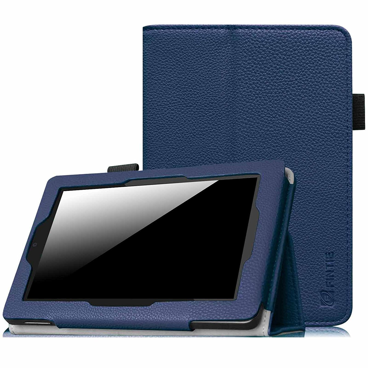 Fintie Kindle Fire HD 7 Tablet (2014 Oct Release) Case - Slim Fit PU Leather Stand Cover with Sleep/Wake Feature, Navy