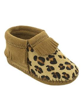 Infant Minnetonka Leopard Riley Bootie