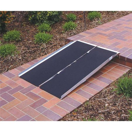 - 4-ft x 30-in Portable Singlefold Wheelchair Ramp 800 lb. Weight Capacity  Maximum 8-in Rise